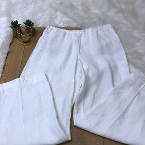 J Jill White Linen Pants #27